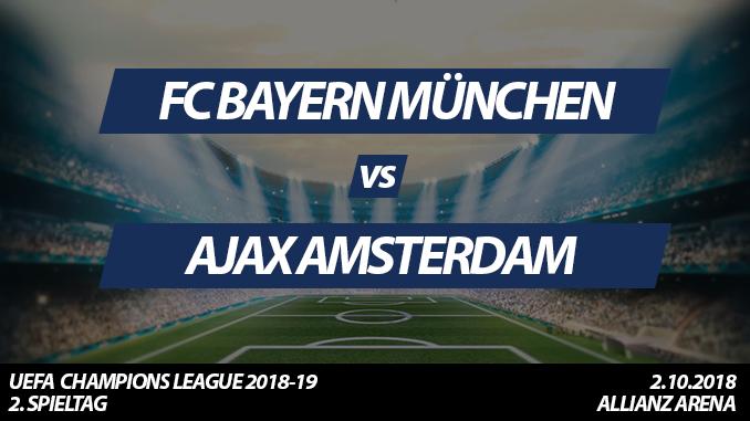 Champions League Tickets: FC Bayern - Ajax Amsterdam, 2.10.2018