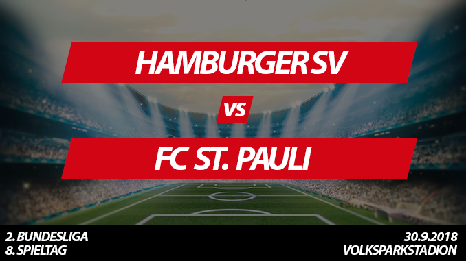 Hamburger Stadtderby Tickets: HSV - FC St. Pauli, 30.9.2018