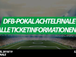 DFB-Pokal Achtelfinale: Alle Paarungen, Termine und Ticketinfos