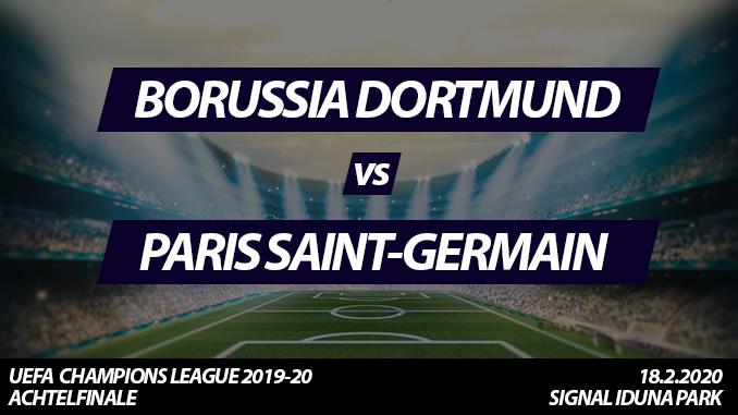 Champions League Tickets: Borussia Dortmund - Paris Saint-Germain, 18.2.2020